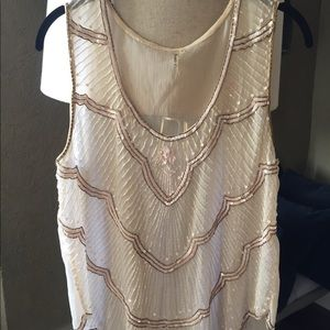 Creme blouse perfect for NYE